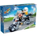BANBAO-8351-MOTOCICLETA POLITIE CU 2 ROTI-140 PIESE