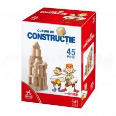 CUBURI DE CONSTRUCTIE DIN LEMN - 45 PIESE