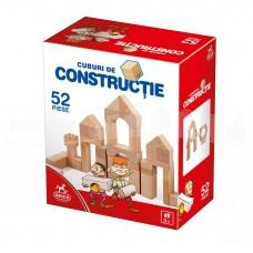 CUBURI DE CONSTRUCTIE DIN LEMN - 52 PIESE