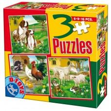 3 PUZZLE ANIMALE DOMESTICE 01