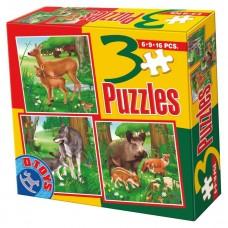 3 PUZZLE ANIMALE SALBATICE 03