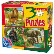 3 PUZZLE ANIMALE SALBATICE 04