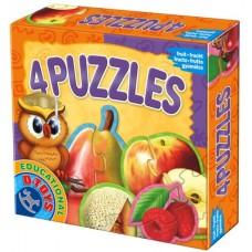 4 PUZZLE FRUCTE DE GRADINA