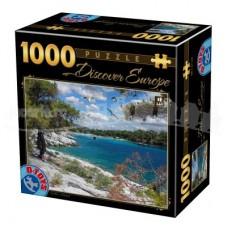DESCOPERA EUROPA - PUZZLE 1000 PCS - CORFU - GRECIA-08