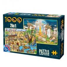 CARTOON 2 IN 1 PUZZLE 1000 - 02