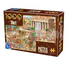 CARTOON 2 IN 1 PUZZLE 1000 - 01