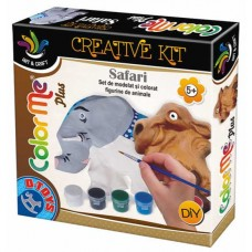 COLOR ME PLUS SAFARI (ELEFANT SI CAMILA)- SET DE MODELAT SI PICTAT - FIGURINE ANIMALE