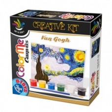 COLOR ME CANVAS - VAN GOGH / STARRY NIGHT - SET PICTURA PE PANZA -NOAPTE INSTELATA